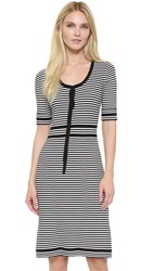 Marc Jacobs Striped Sweater Dress White Multi