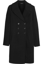 James Perse Cotton Jersey Coat Black