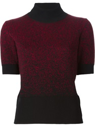 Eggs Speckled Turtleneck Sweater Red