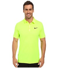 Nike Mobility Emboss Polo Volt Flat Silver Men's Short Sleeve Pullover Yellow
