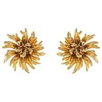 Eclectica Vintage 1960S Monet Gold Plated Clip On Earrings Gold