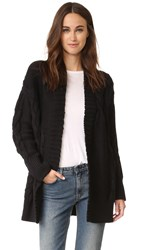Dkny Pure Long Sleeve Cardigan Coat Black