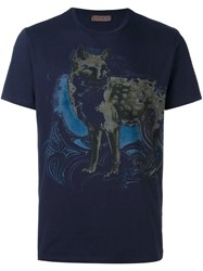 Etro Animal Print T Shirt Blue