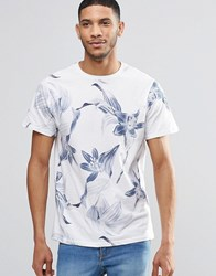 Pull And Bear Pullandbear T Shirt With Floral Print In White White