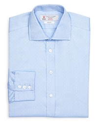 Turnbull And Asser Dobby Slim Fit Dress Shirt 100 Bloomingdale's Exclusive Bluewhite
