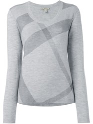 Burberry Brit House Check Jumper Grey