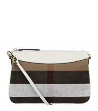 Burberry Shoes And Accessories House Check Clutch Bag Female White