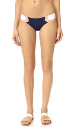 L Space Barracuda Reversible Bikini Bottoms Midnight Blue