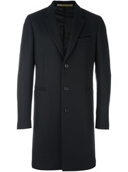 Paul Smith Ps By Classic Single Breasted Coat Blue
