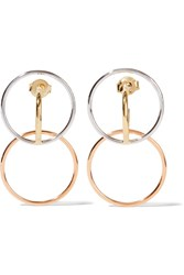 Charlotte Chesnais Galilea Gold Dipped And Silver Hoop Earrings