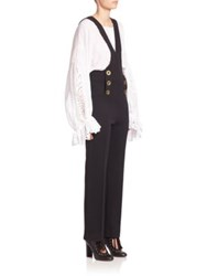 Chloe Wool Overall Jumpsuit Black