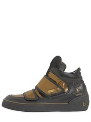 Botticelli Sport Limited Lame And Leather High Top Sneakers