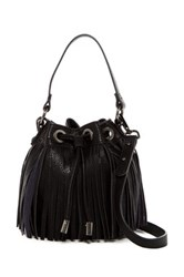 Sr2 Mini Fringe Drawstring Crossbody Black