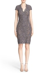 Pamella Roland Women's Back Cutout Embellished Lace Sheath Dress