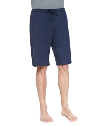 Derek Rose Basel Jersey Lounge Shorts Navy