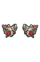 Topshop Women's Embroidered Floral Collar Tips