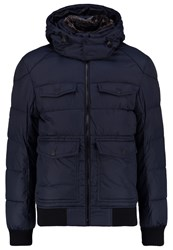 Tom Tailor Stan Winter Jacket Knitted Navy Blue