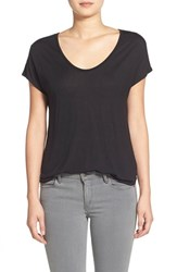 Trouve Women's Trouve Relaxed Fit Shirttail Tee Black