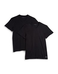 Under Armour 2 Pack V Neck Undershirts Black