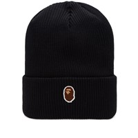 A Bathing Ape One Point Knit Cap Black
