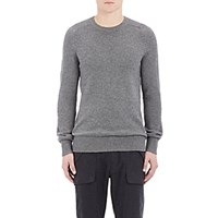 Helmut Lang Men's Mixed Knit Sweater Grey