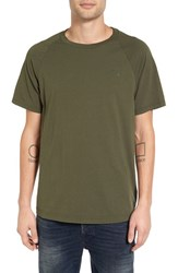 G Star Men's Raw 'Illec' Raglan T Shirt Dark Bronze Green