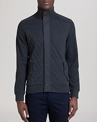 Ted Baker Trustyu Quilted Cardigan Charcoal