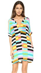 Mara Hoffman Flag Stripe Dress Black Multi