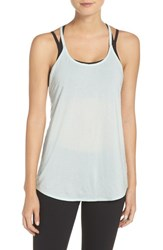 Zella Women's 'Elevate' Cross Back Tank Blue Glacier