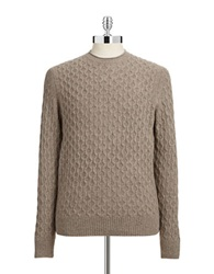 Black Brown Cableknit Lambswool Sweater Rope Heath