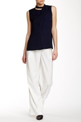 Shades Of Grey Pleated Wide Leg Trouser White