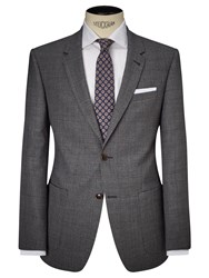 John Lewis And Co. Storey Large Check Tailored Suit Jacket Grey
