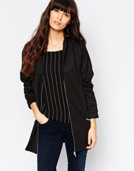 Minimum Longline Bomber Jacket Black