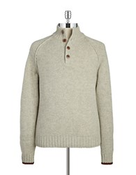 Brooks Brothers Knit Wool Pullover White