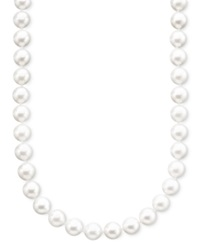 Belle De Mer Pearl Necklace 18' 14K Gold A Akoya Cultured Pearl Strand 7 7 1 2Mm Black