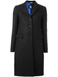 Paul Smith Ps By Classic Buttoned Coat Black