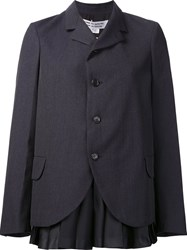 Comme Des Garcons Pleated Detail Blazer Grey