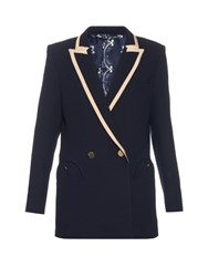 Blaze Milano Everyday Cool And Easy Wool Blazer Navy