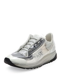 Maison Martin Margiela Transparent Lace Up Trainer Sneaker White Black Men's