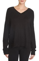 Women's 1.State V Neck Sweater Rich Black