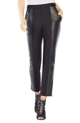 Bcbgmaxazria Women's Brennan Cotton And Faux Leather Pants