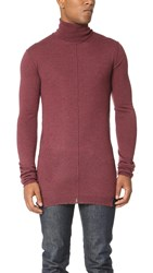 Damir Doma Kazan Turtleneck Knit Sweater Dry Rose