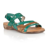 Lotus Palma Open Toe Sandals Green