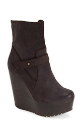 Max Studio Women's Maxstudio 'Fauna' Wedge Bootie Dark Brown