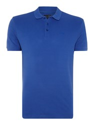 Armani Jeans Regular Fit Short Sleeve Logo Polo Shirt Blue