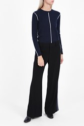 Derek Lam Striped Side Trousers Black