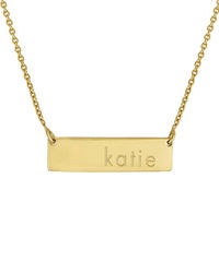 Initial Reaction Golden Name Bar Necklace