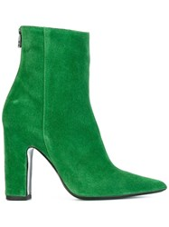 Barbara Bui Suede Ankle Boots Green
