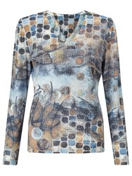Gerry Weber Burnout Print Top Multi