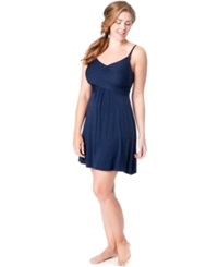 Motherhood Maternity Twist Front Nursing Nightgown Navy